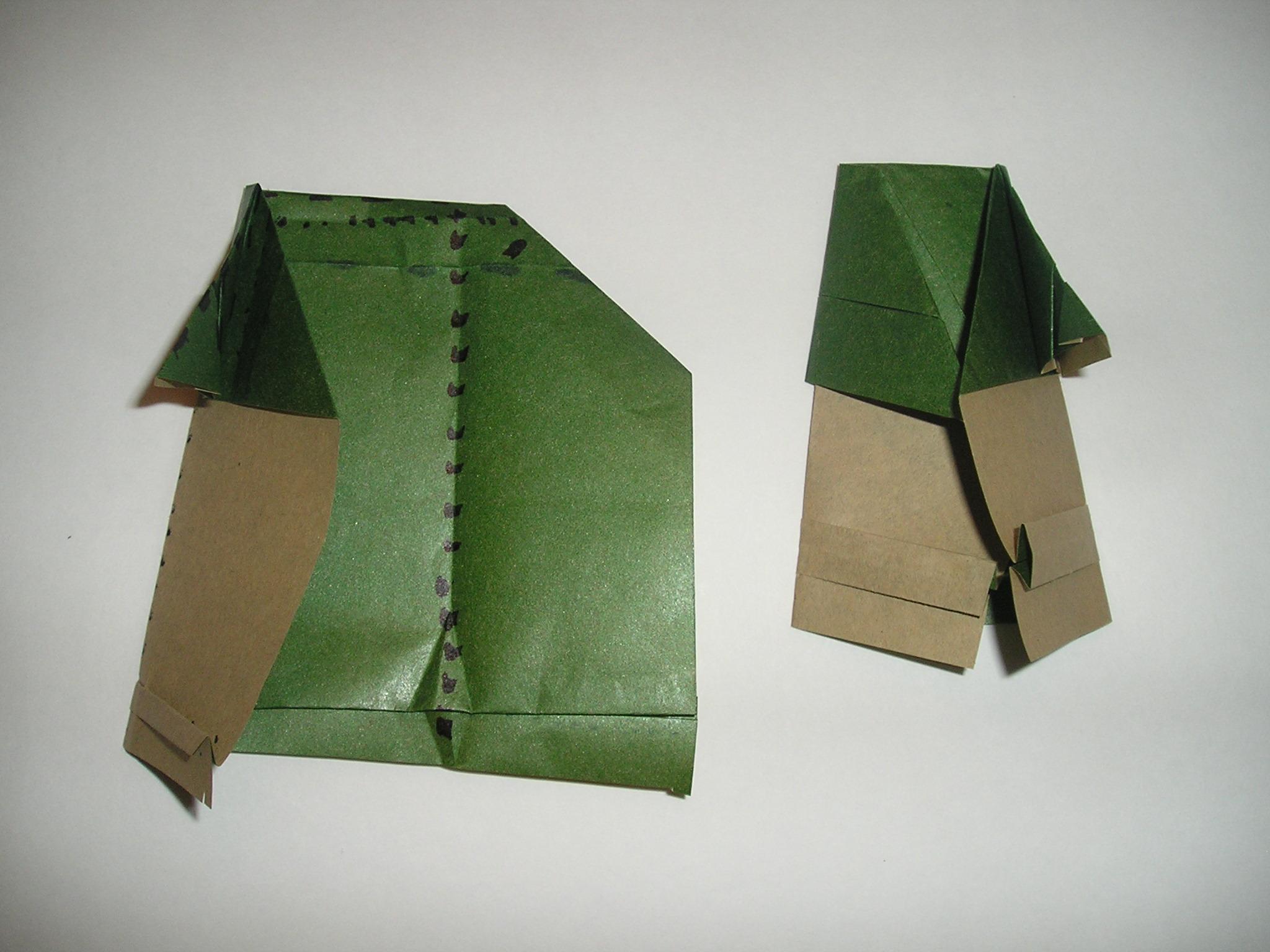 Finally! Instructions for folding an Origami Yoda like the ... - photo#33