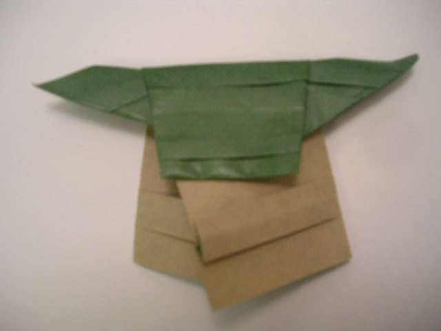 finally instructions for folding an origami yoda like the