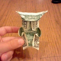 Chris' Origami Yoda from a dollar bill