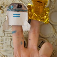 Here's the latest from Dwight: Origami R2D2 and C3P0!