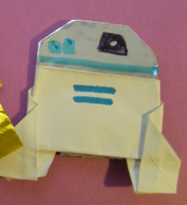 instructions for origami r2d2 plus a contest happy life