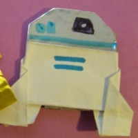 Instructions for Origami R2D2! Plus a contest! Happy Life Day! #starwars #origami