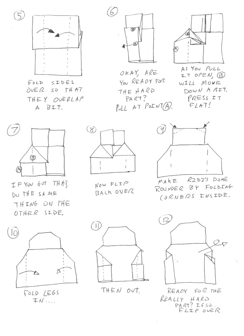 Cover Yoda Instructions | Origami Yoda | 1101x800