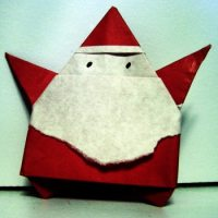 Fold your own Origami Santa this Christmas!