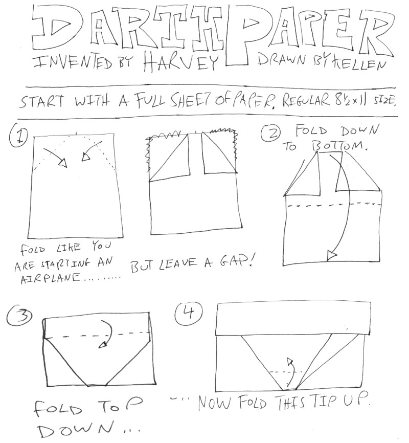 And the sequel is .... Darth Paper Strikes Back! (2/4)