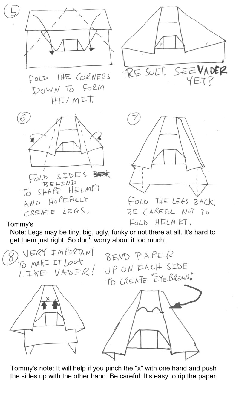 Star Wars Origami A List Of Online Diagrams For Folding Your Own