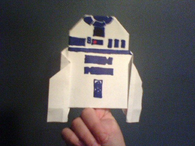 R2d2 With Origami R2d2 By Newest Super Folder Michael Starwars