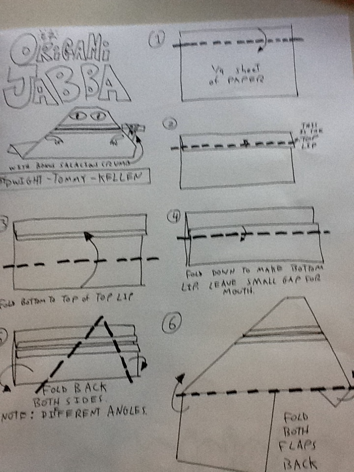 For May the Fourth... EZ Origami Jabba Instructions +more! (2/3)