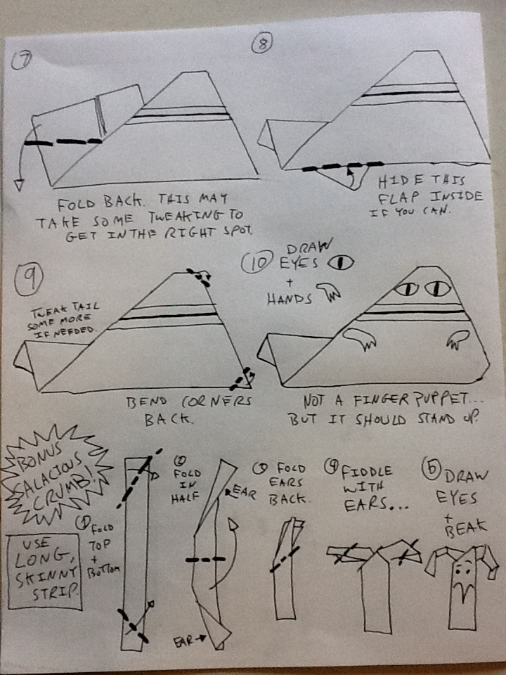 For May the Fourth... EZ Origami Jabba Instructions +more! (3/3)