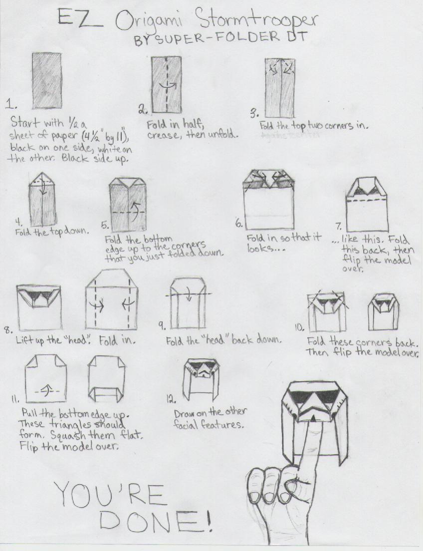 How To Make Origami Star Wars Mace Windu