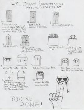 SuperFolder DT's EZ Stormtrooper with instructions