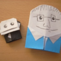 Origami Soapy the Monkey! (and me) by SuperFolder Jackson!