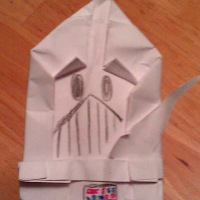 A brand-new way to make Darth Paper by SuperFolder Yoda! With instructions!