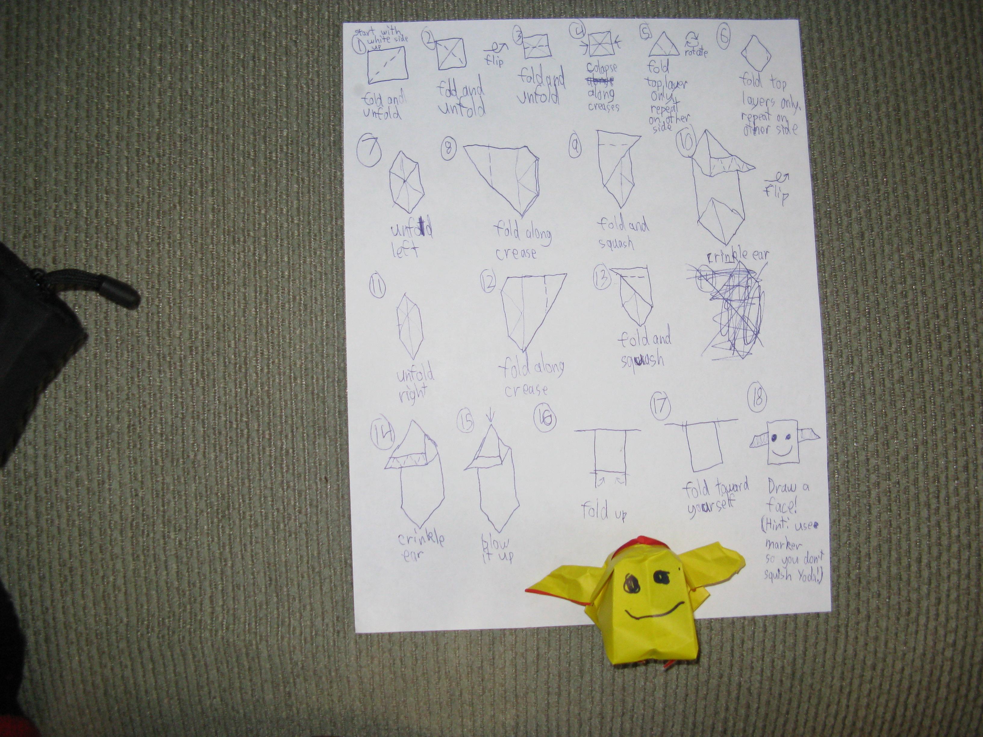 Van Jahnke Origami Yoda Instructions