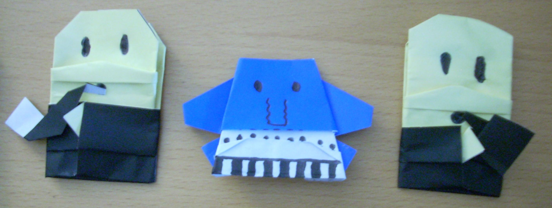 Origami alien rock band origamiyoda origami alien rock band jeuxipadfo Images