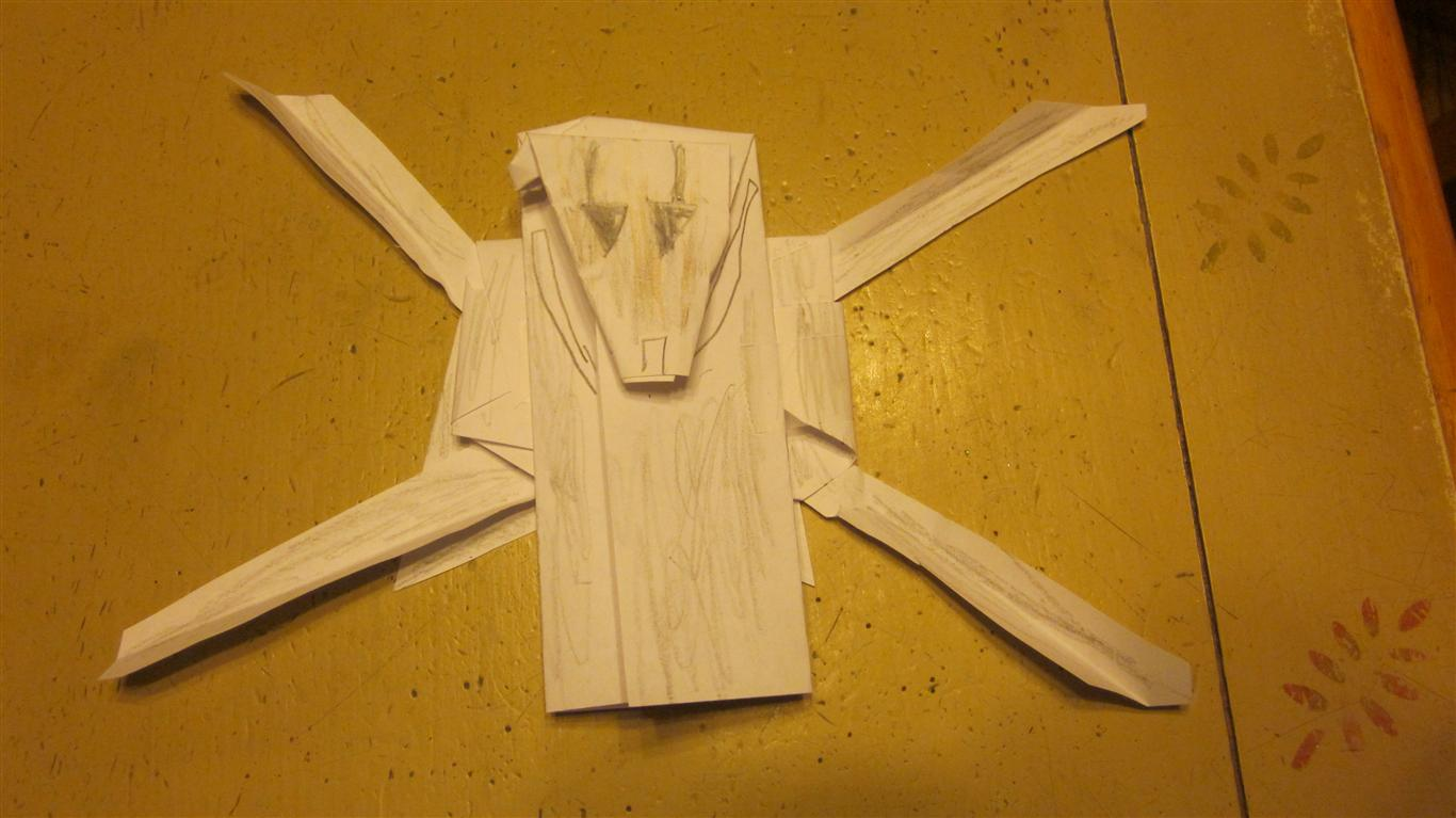 Superfolder Lukes Origami General Grievous Origamiyoda