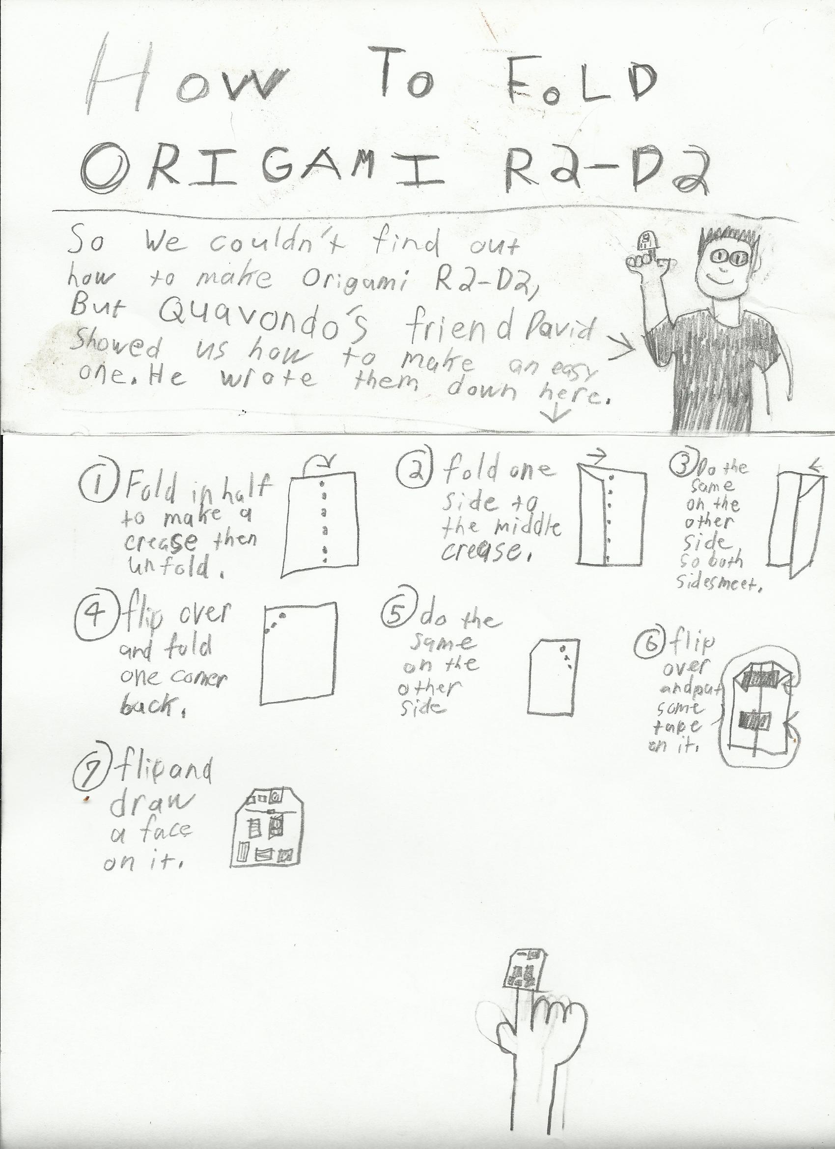 Origami R2d2 Finger Puppet Instructions