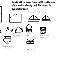 Superfolder Eash's *Discovered* Origami Super Mario hat!