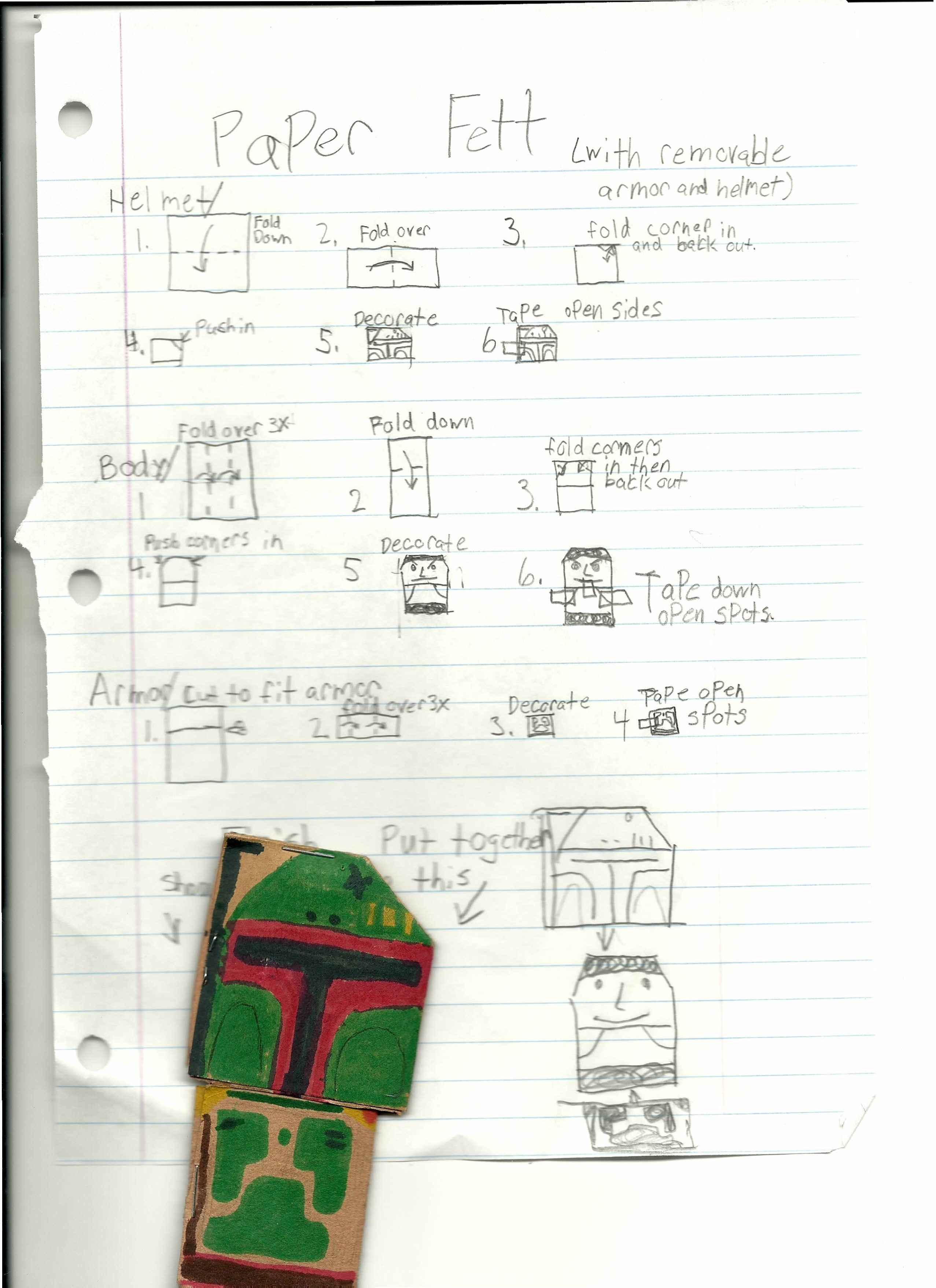 How To Make An Origami R2d2 Instructions