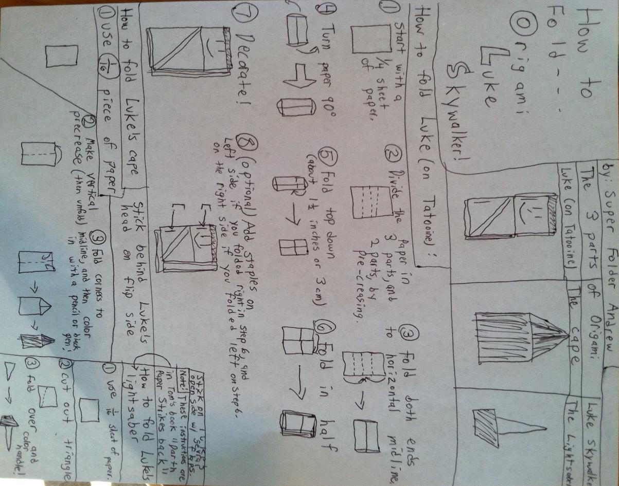 origami luke skywalker instructions : Ruben's blog - photo#42