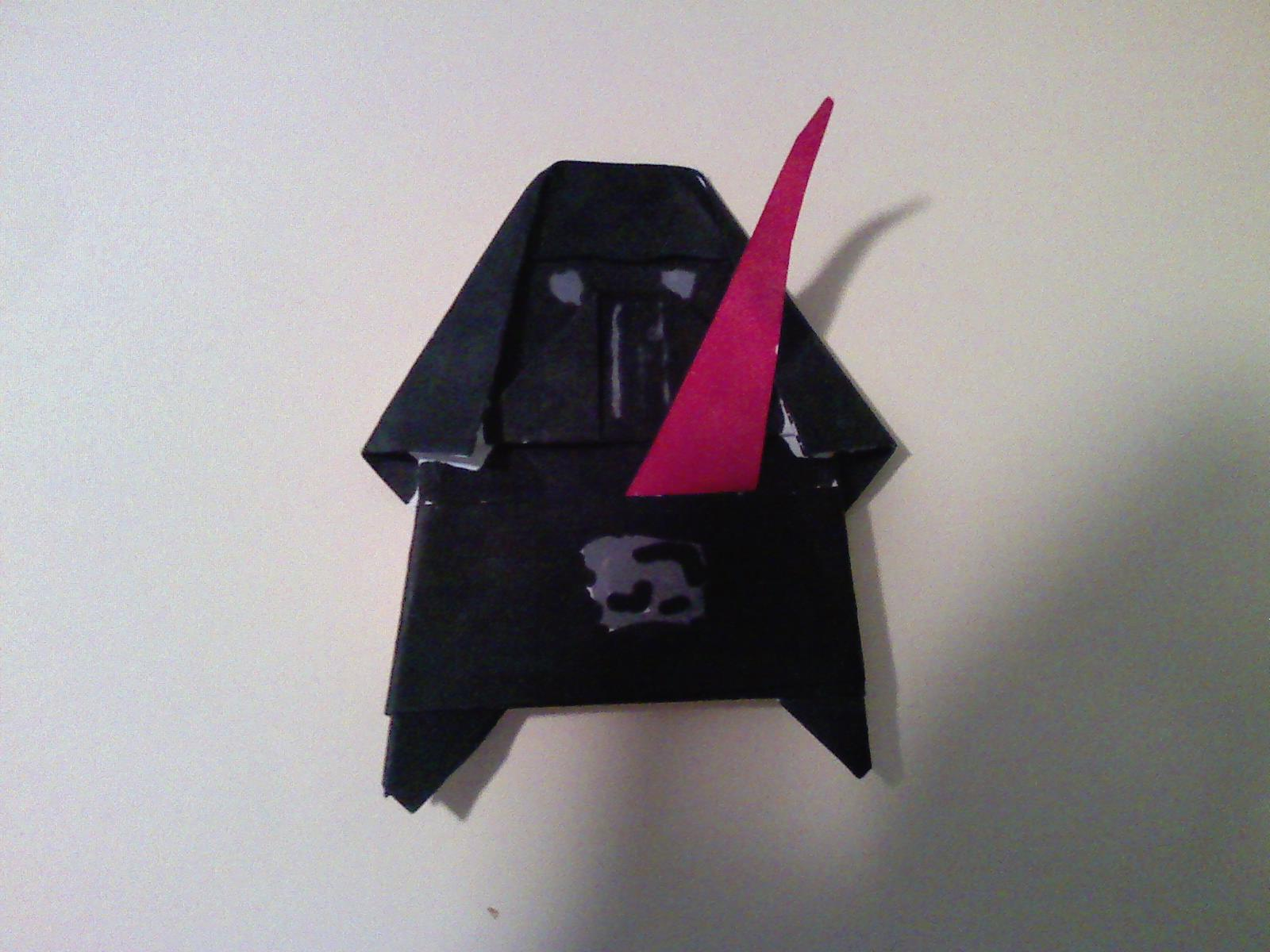 How To Make Origami Darth Vader