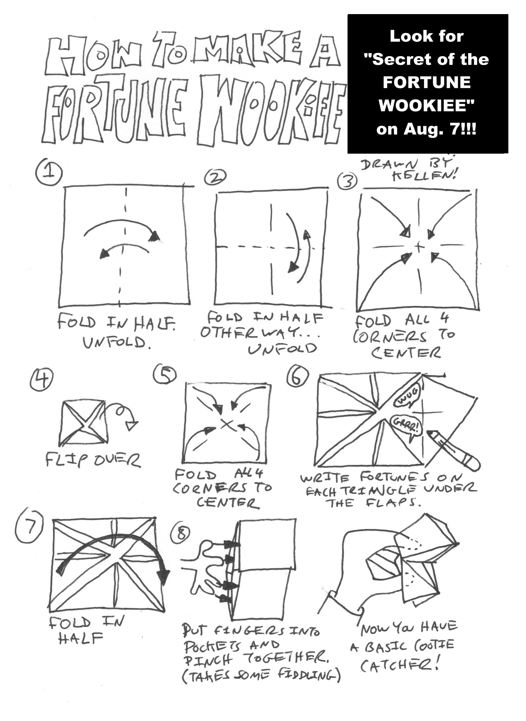 Make your own fortune wookiee origamiyoda click jeuxipadfo Image collections