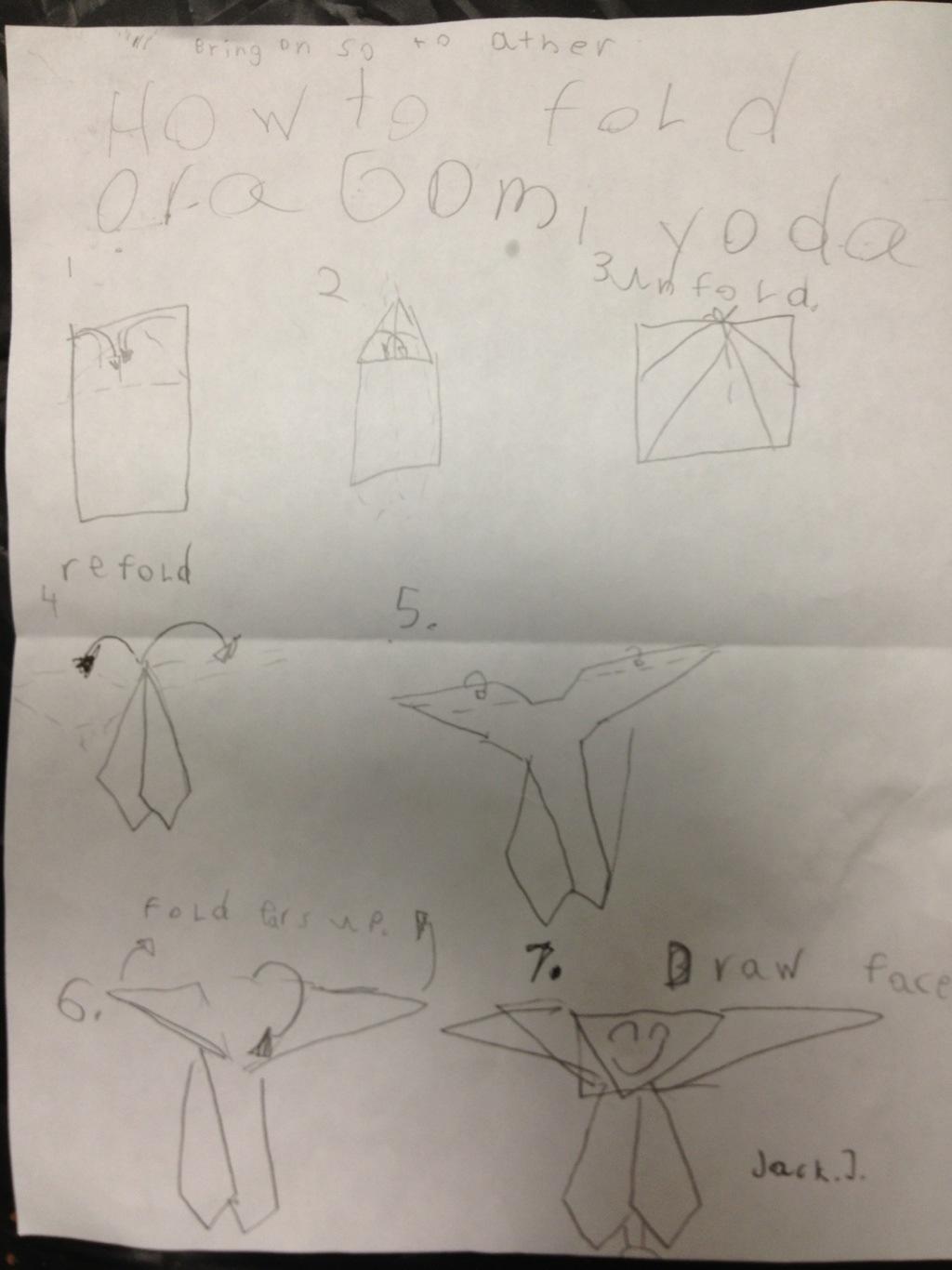 Tom Angleberger's Blog - New origami Yoda design with ... - photo#28