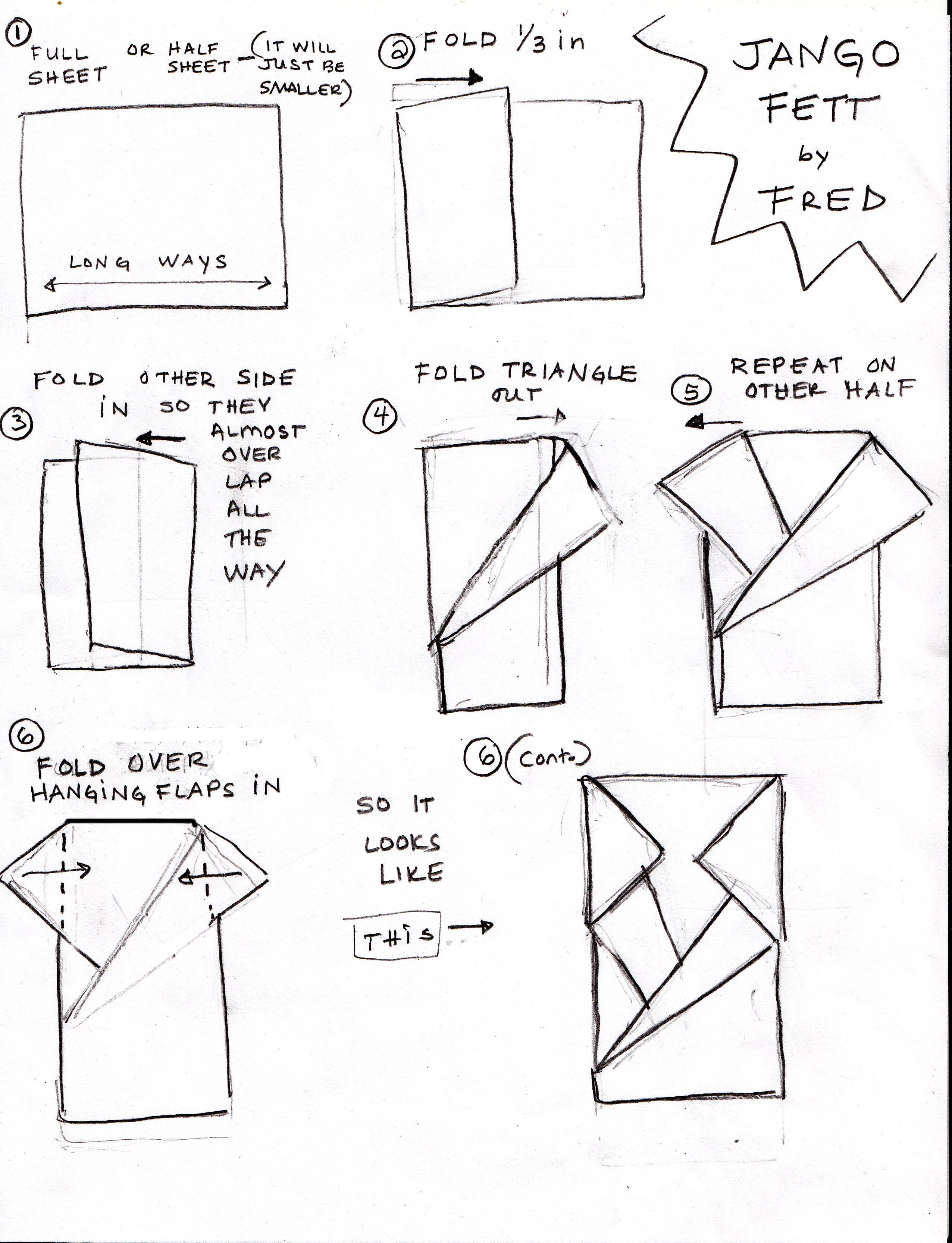 jango fett instructions page 1 | OrigamiYoda - photo#2