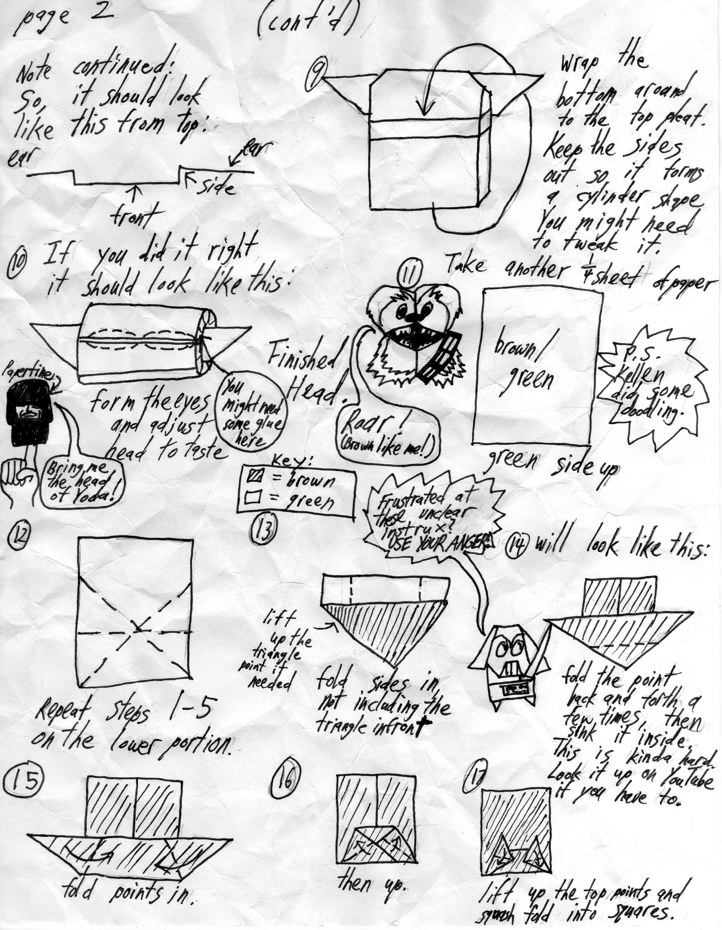 Origami Yoda Instructions Hard