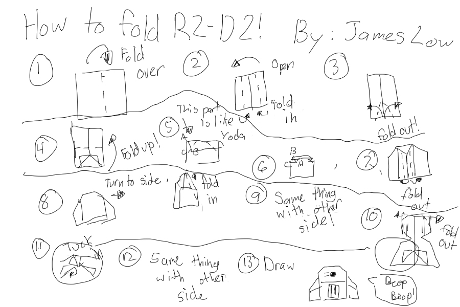 How To Fold R2 D2 Origamiyoda