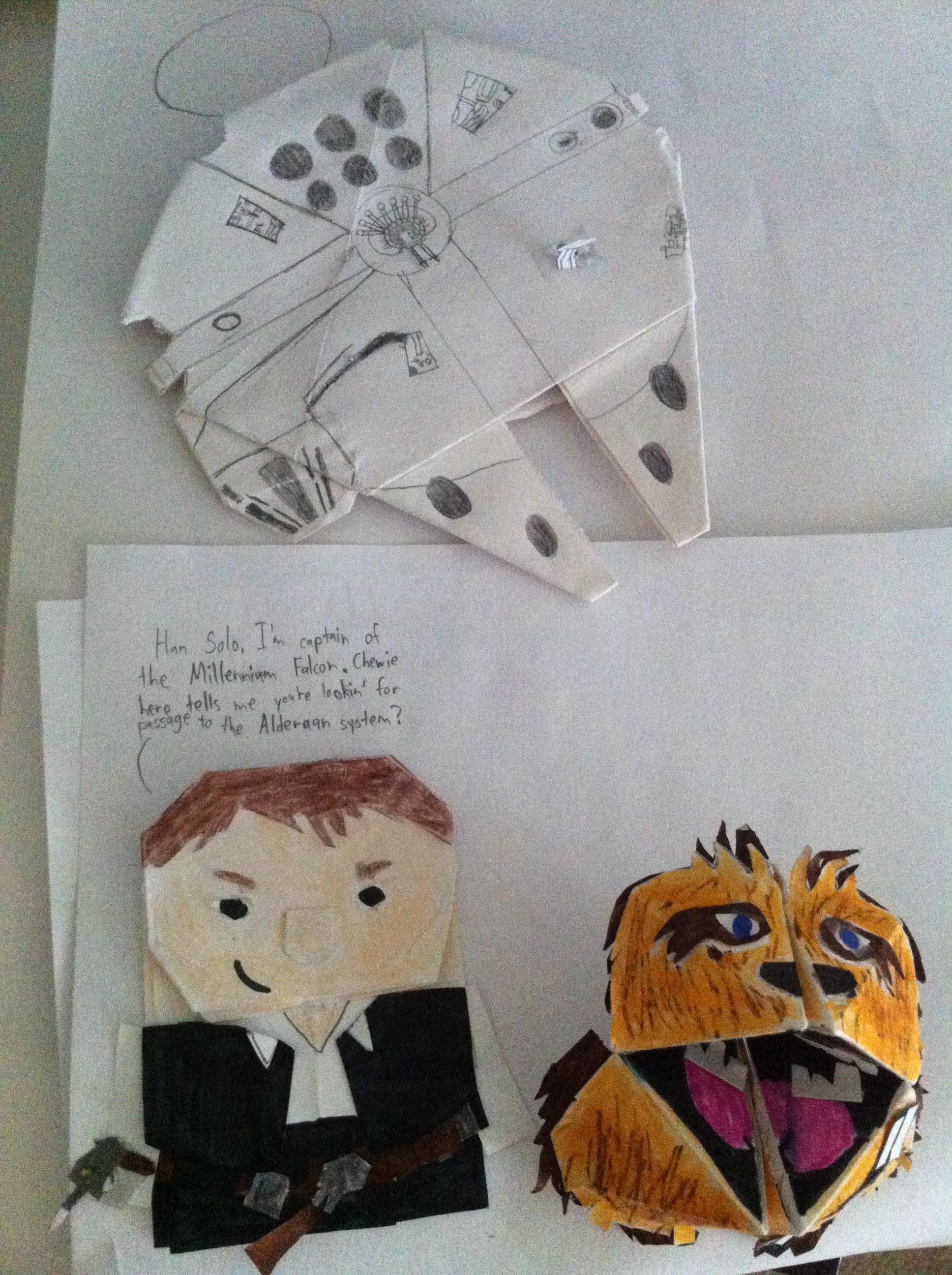Superfolder Jaymels Origami Han Foldo Fortune Wookiee And