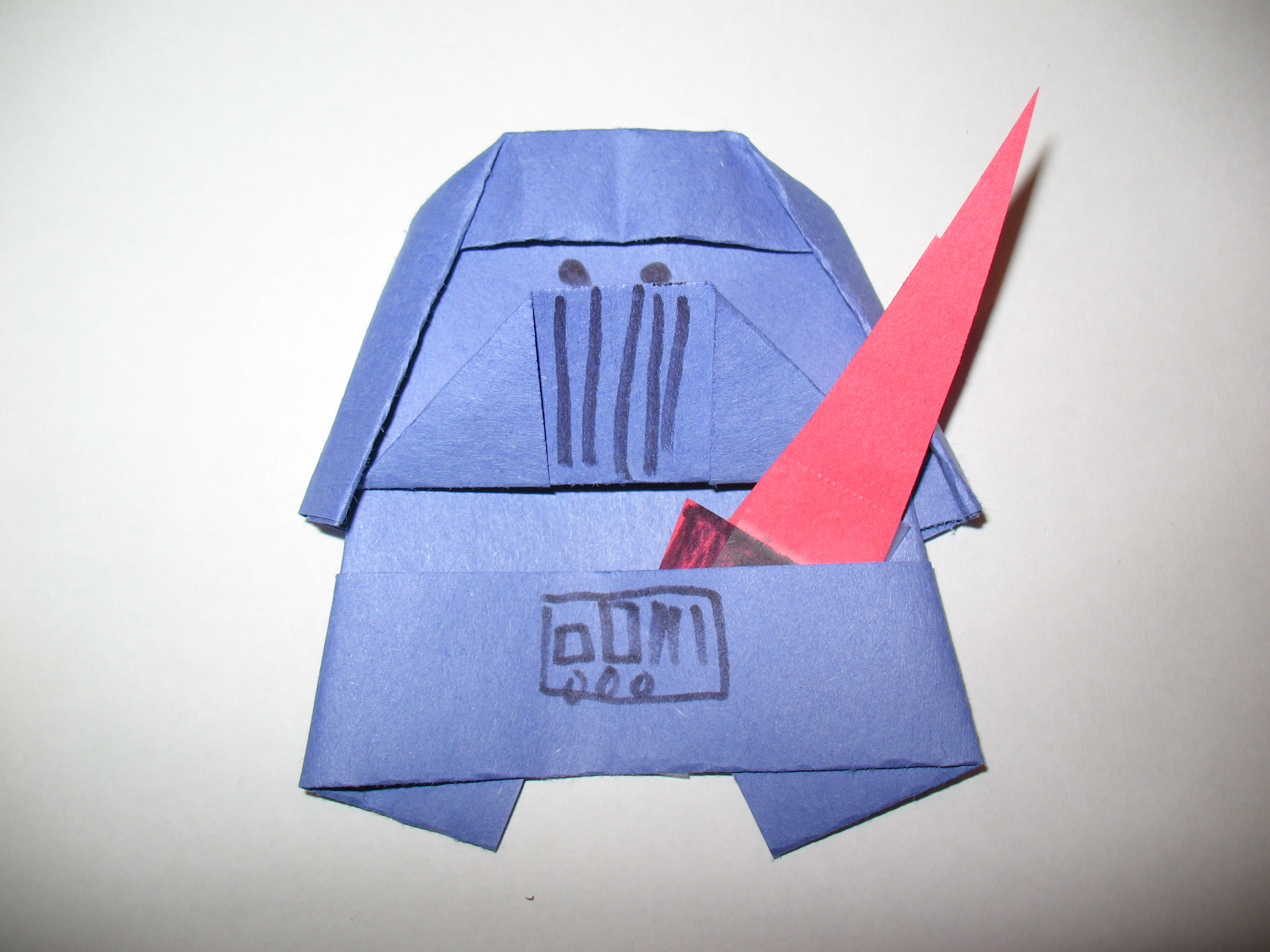 origami darth paper