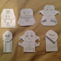 SF JamesL's Origami Star Wars Characters!