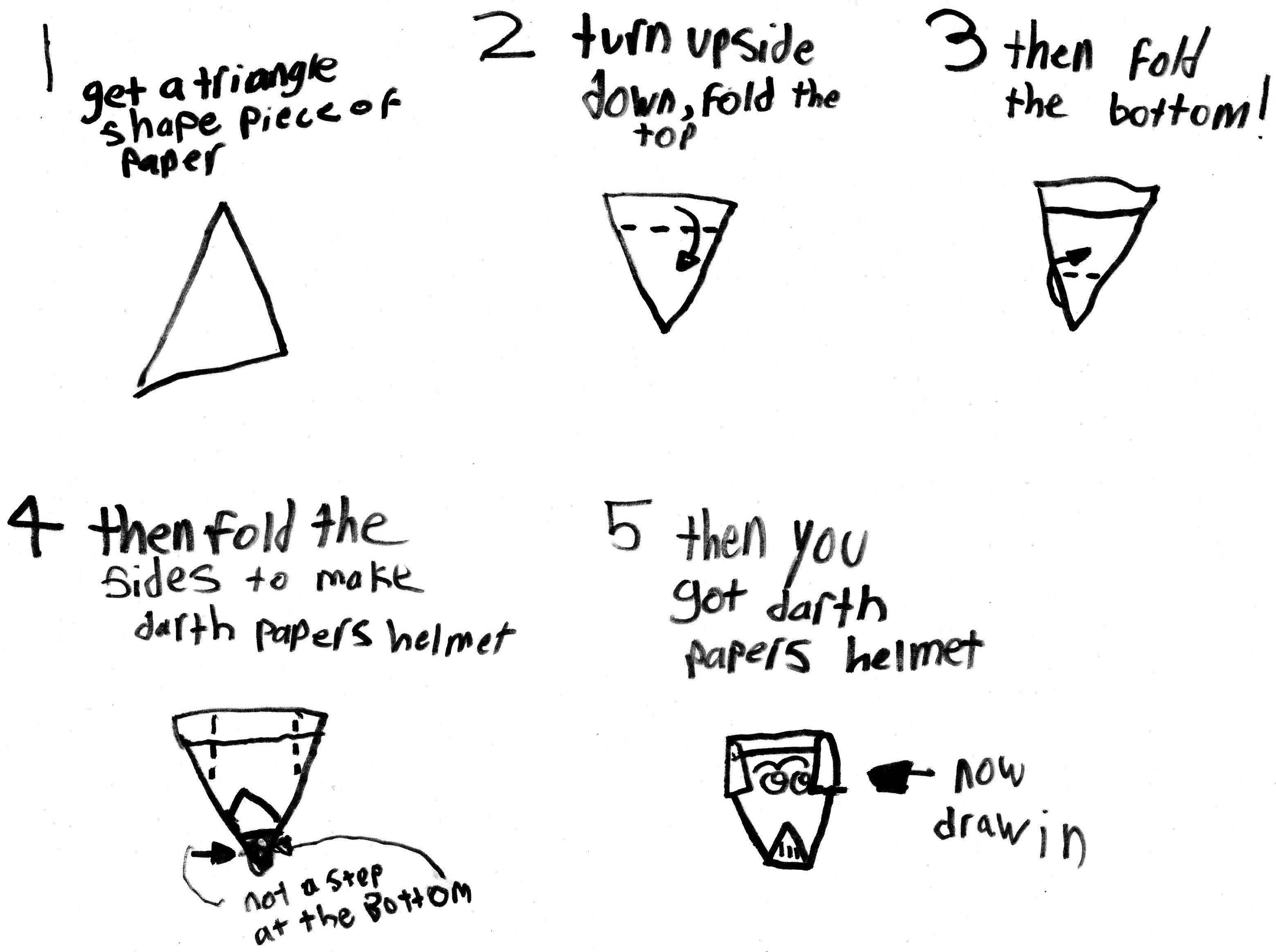 Darth Papers Helmet Instructions