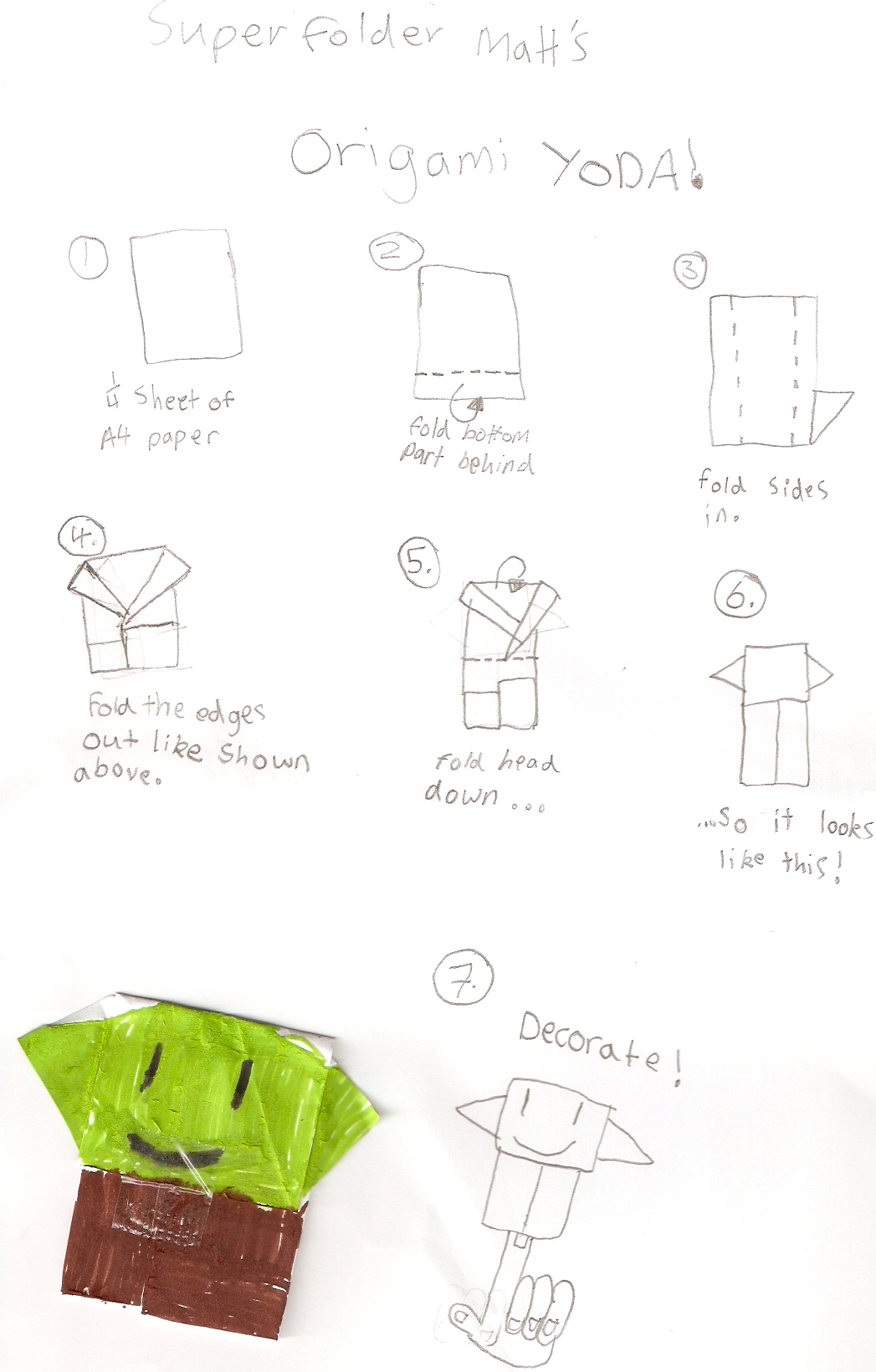 Tom Angleberger's Blog - SF MattQ's Origami Yoda instrux ... - photo#19