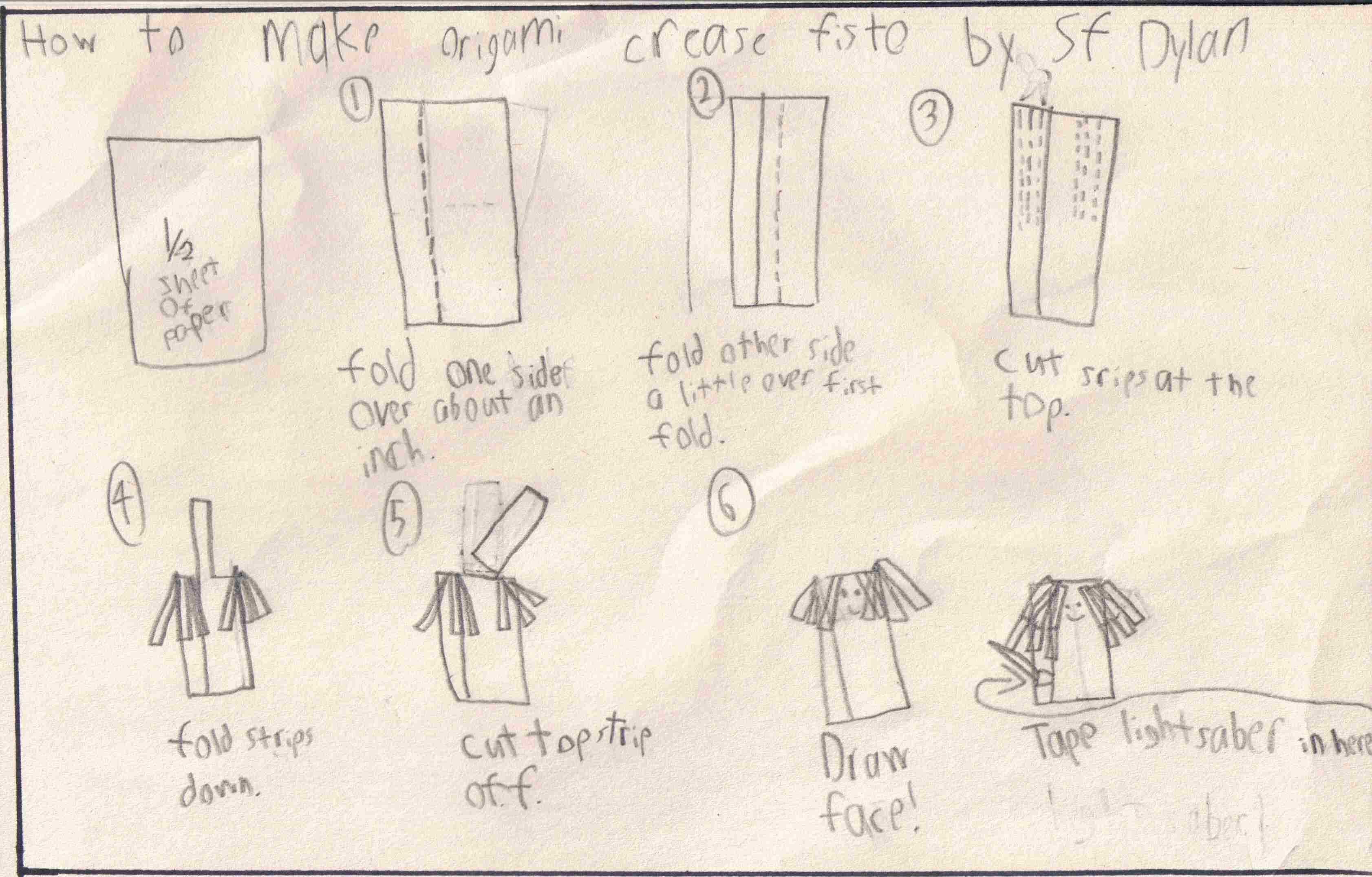 Tom Angleberger's Blog - SF Dyla's Kit Fisto instructions ... - photo#5