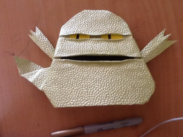 how to make origami jabba