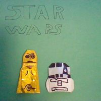 Origami R2's, C-3PO, Tauntaun, and General Creasous